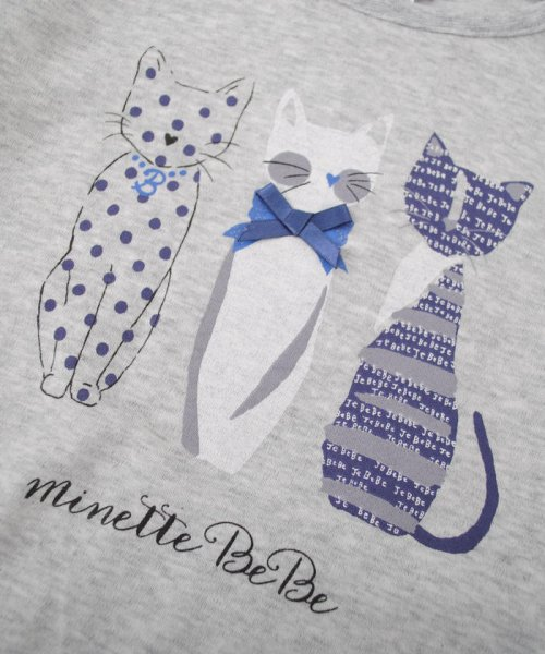 BeBe(ベベ)/ネコプリントTシャツ/111511527_img05
