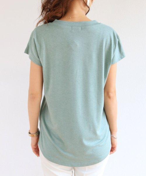 and Me...(アンドミー)/【N-9】UVカット クール素材 Vネック 半袖 Tシャツ/2000032_img11