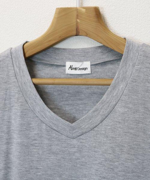 and Me...(アンドミー)/【N-9】UVカット クール素材 Vネック 半袖 Tシャツ/2000032_img14