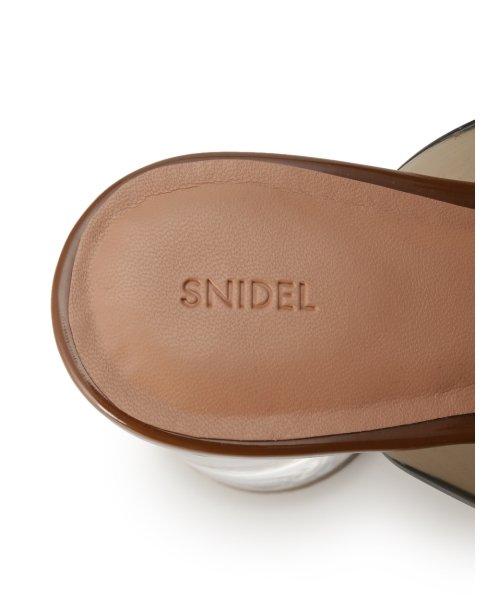 SNIDEL(スナイデル)/クリアサークルヒールサンダル/SWGS192645_img07