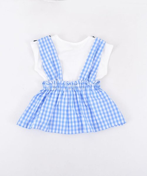 SLAP SLIP(スラップスリップ)/ブロードギンガムビスチェ付きTシャツ/180212509_img02