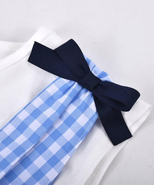 SLAP SLIP(スラップスリップ)/ブロードギンガムビスチェ付きTシャツ/180212509_img03