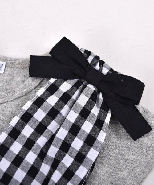 SLAP SLIP(スラップスリップ)/ブロードギンガムビスチェ付きTシャツ/180212509_img07