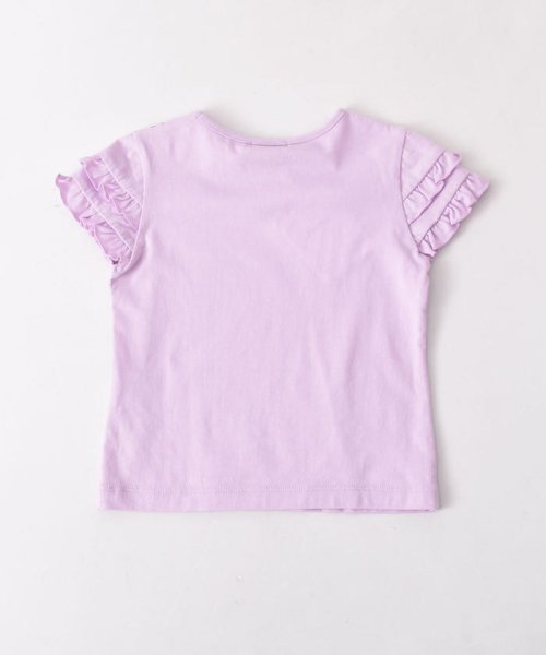 BeBe(ベベ)/リボン付ネックレスプリントTシャツ/111512595_img02
