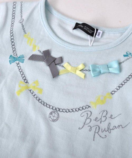 BeBe(ベベ)/リボン付ネックレスプリントTシャツ/111512595_img06