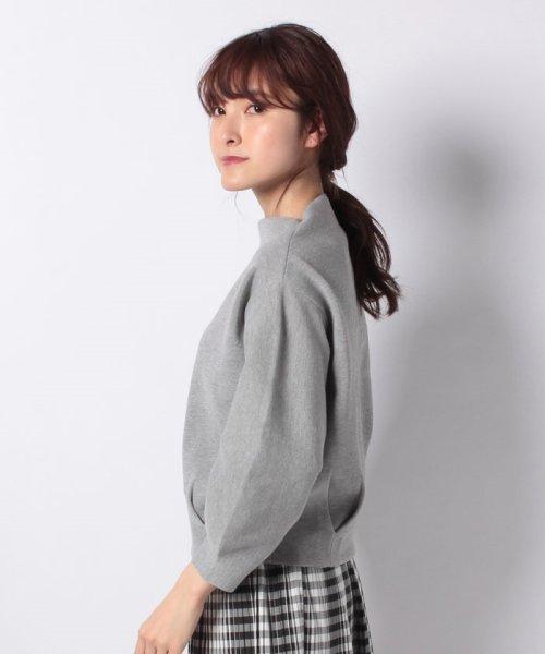 INTERPLANET(インタープラネット)/ハーフミラノ裾タックボリューム袖カットソー/10116003_img01