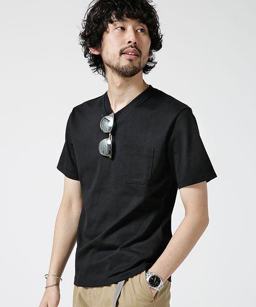 nano・universe(ナノ・ユニバース)/Anti Soaked ヘビーVネックTシャツ/6689124008_img09