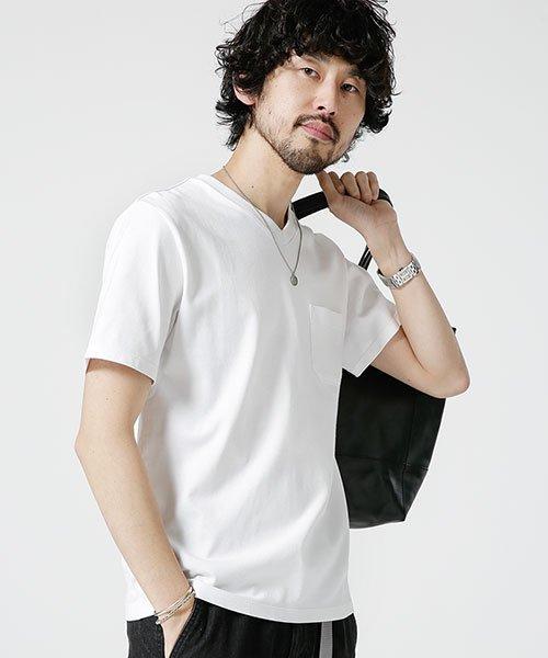 nano・universe(ナノ・ユニバース)/Anti Soaked ヘビーVネックTシャツ/6689124008_img11