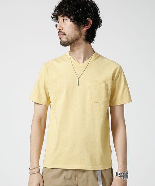 nano・universe(ナノ・ユニバース)/Anti Soaked ヘビーVネックTシャツ/6689124008_img12