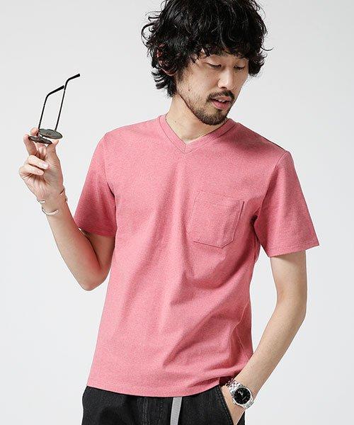 nano・universe(ナノ・ユニバース)/Anti Soaked ヘビーVネックTシャツ/6689124008_img13
