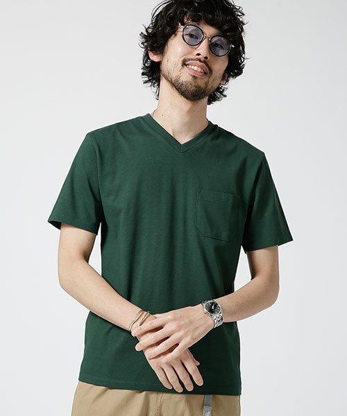 nano・universe(ナノ・ユニバース)/Anti Soaked ヘビーVネックTシャツ/6689124008_img15