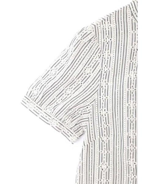 PROPORTION BODY DRESSING(プロポーション ボディドレッシング)/コットンアイレットスタンドブラウス/1219110402_img09