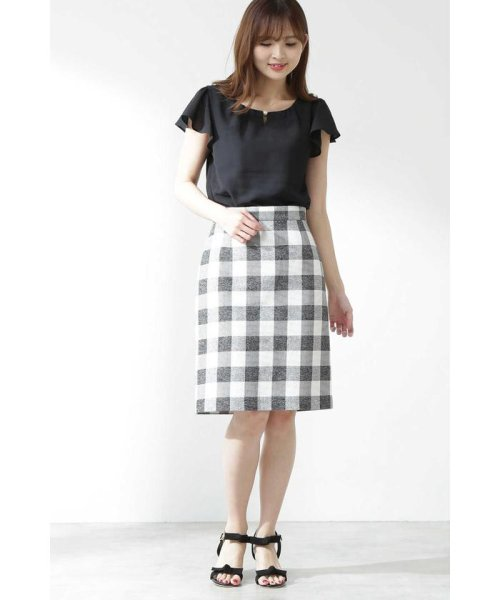 PROPORTION BODY DRESSING(プロポーション ボディドレッシング)/ギンガムチェックリボンタイトスカート/1219120403_img06