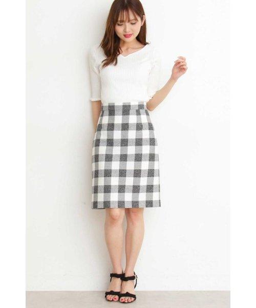 PROPORTION BODY DRESSING(プロポーション ボディドレッシング)/ギンガムチェックリボンタイトスカート/1219120403_img08