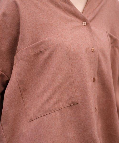 ANDJ(ANDJ(アンドジェイ))/リネン風BIGポケットオーバーサイズシャツ/tb79c04260_img13