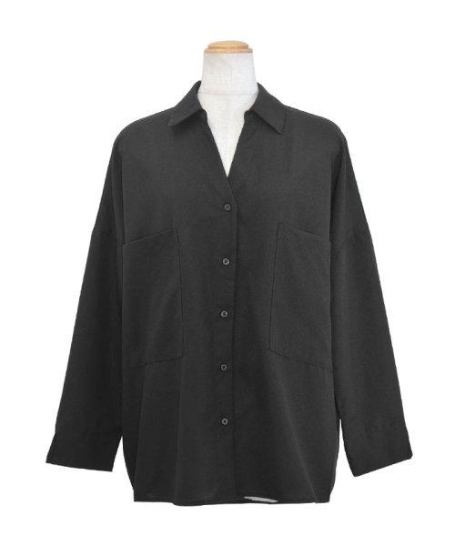 ANDJ(ANDJ(アンドジェイ))/リネン風BIGポケットオーバーサイズシャツ/tb79c04260_img19