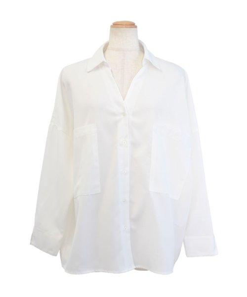 ANDJ(ANDJ(アンドジェイ))/リネン風BIGポケットオーバーサイズシャツ/tb79c04260_img22