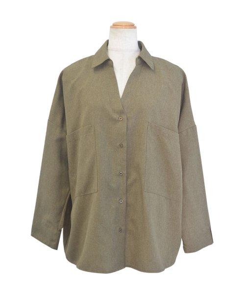 ANDJ(ANDJ(アンドジェイ))/リネン風BIGポケットオーバーサイズシャツ/tb79c04260_img23
