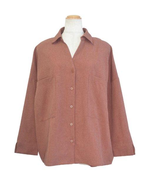 ANDJ(ANDJ(アンドジェイ))/リネン風BIGポケットオーバーサイズシャツ/tb79c04260_img24