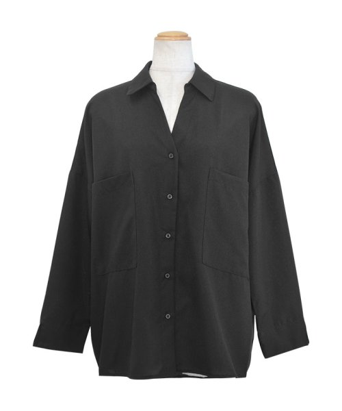 ANDJ(ANDJ(アンドジェイ))/リネン風BIGポケットオーバーサイズシャツ/tb79c04260_img25