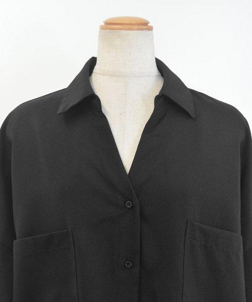ANDJ(ANDJ(アンドジェイ))/リネン風BIGポケットオーバーサイズシャツ/tb79c04260_img26