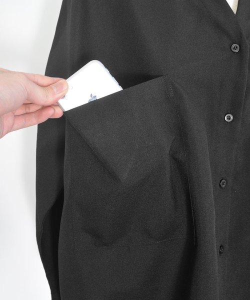 ANDJ(ANDJ(アンドジェイ))/リネン風BIGポケットオーバーサイズシャツ/tb79c04260_img27