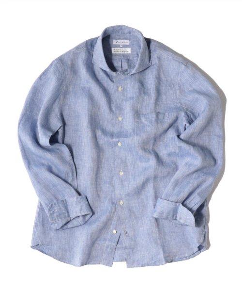 SHIPS JET BLUE(シップス ジェットブルー)/SHIPS JET BLUE: L.B.N. リネン セミワイドカラーシャツ/121110153_img12