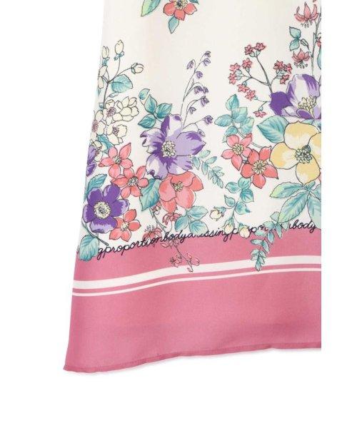 PROPORTION BODY DRESSING(プロポーション ボディドレッシング)/【美人百花5月号掲載】◆スカーフプリントミディスカート/1219120408_img10
