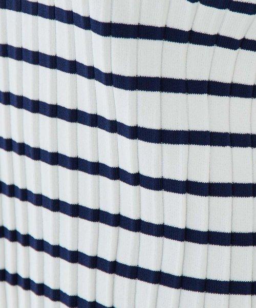 ROPE'(ロペ)/【TVドラマ着用】【WEB限定】【洗える】【ドラマ着用】ボーダーリブプリーツプルオーバー/GGM59100_img08