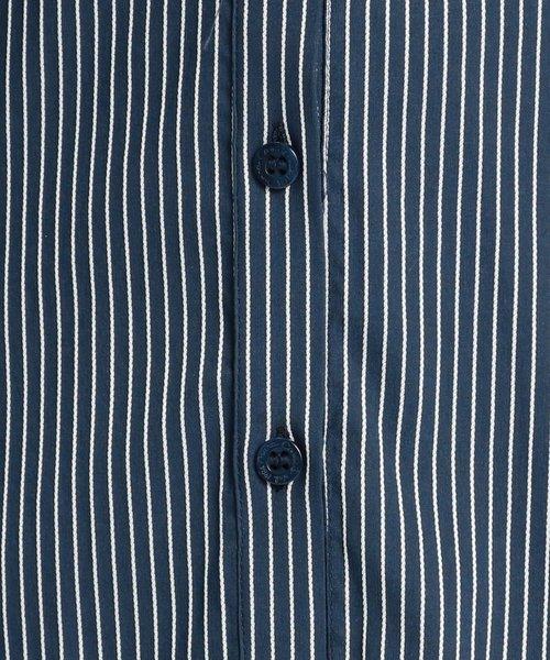 NARA CAMICIE(ナラカミーチェ)/イタリアンストライプフロントフリル七分袖シャツ/109102021_img02