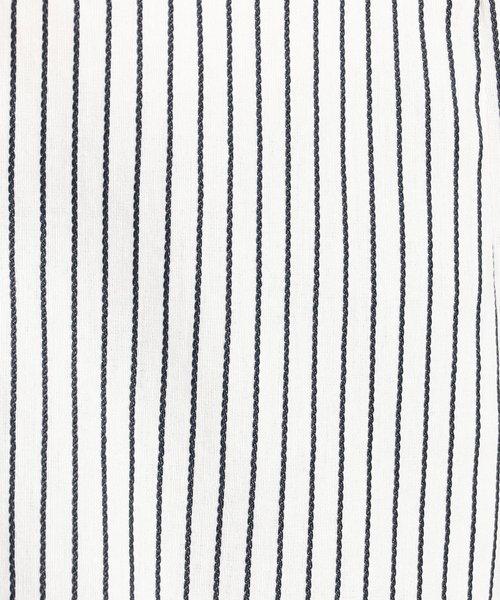 NARA CAMICIE(ナラカミーチェ)/イタリアンストライプフロントフリル七分袖シャツ/109102021_img06