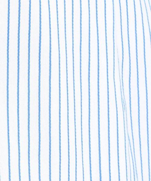NARA CAMICIE(ナラカミーチェ)/イタリアンストライプフロントフリル七分袖シャツ/109102021_img07