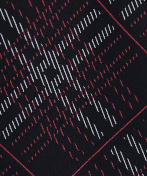 NARA CAMICIE(ナラカミーチェ)/シフォンチェックドロストフリル半袖ブラウス/109104032_img03