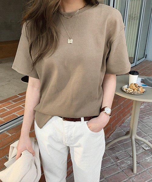 NANING9(ナンニング)/NANING9(ナンニング)コットン無地Tシャツ/ng-19t-010-z_img11