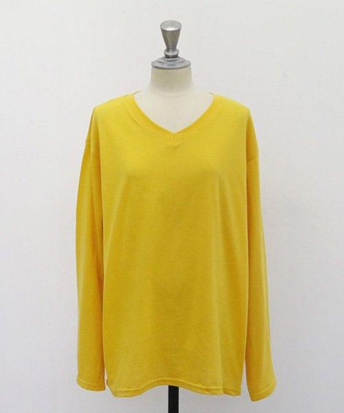 NANING9(ナンニング)/NANING9(ナンニング)Vネック長袖Tシャツ/ng-19t-030-z_img02