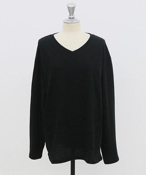 NANING9(ナンニング)/NANING9(ナンニング)Vネック長袖Tシャツ/ng-19t-030-z_img03