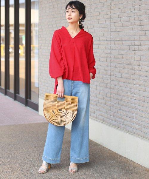 Bou Jeloud(ブージュルード)/◆ビッグシルエットが可愛い◆抜け衿ゆるカラービッグシャツ/691995_img01