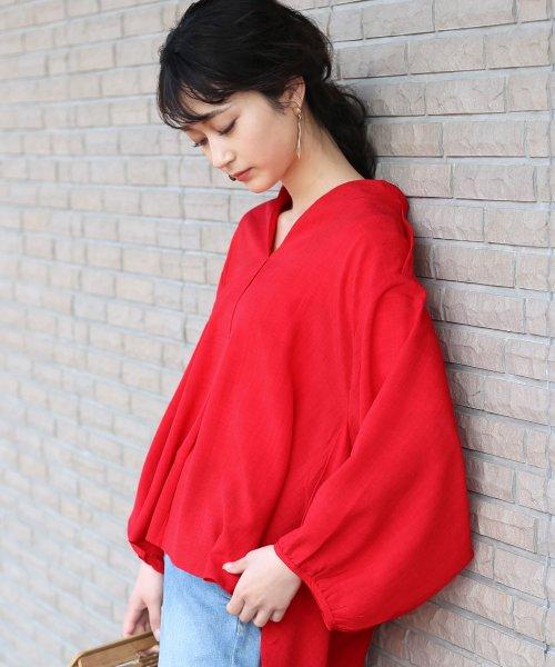 Bou Jeloud(ブージュルード)/◆ビッグシルエットが可愛い◆抜け衿ゆるカラービッグシャツ/691995_img02