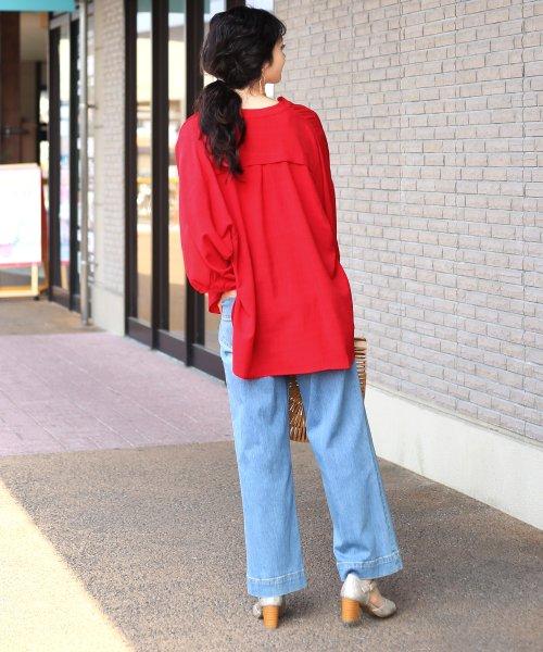 Bou Jeloud(ブージュルード)/◆ビッグシルエットが可愛い◆抜け衿ゆるカラービッグシャツ/691995_img03