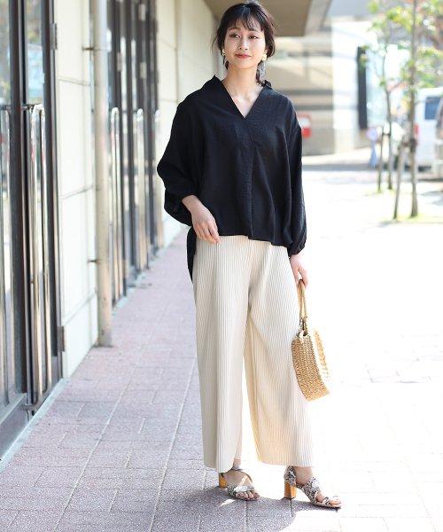 Bou Jeloud(ブージュルード)/◆ビッグシルエットが可愛い◆抜け衿ゆるカラービッグシャツ/691995_img04