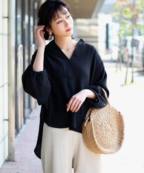 Bou Jeloud(ブージュルード)/◆ビッグシルエットが可愛い◆抜け衿ゆるカラービッグシャツ/691995_img05