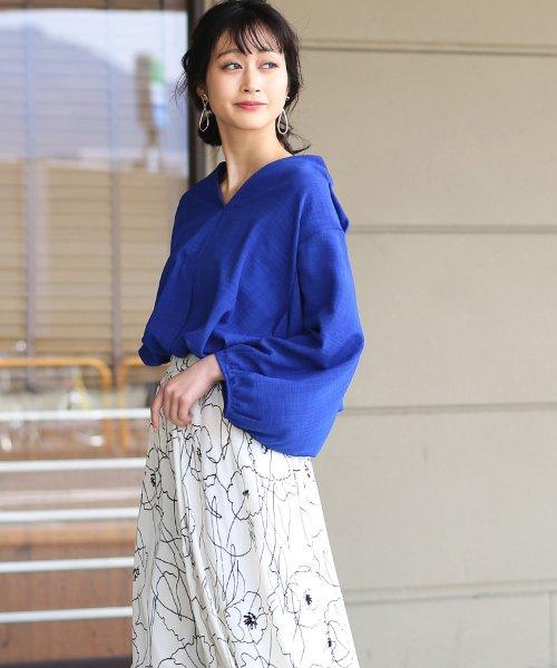 Bou Jeloud(ブージュルード)/◆ビッグシルエットが可愛い◆抜け衿ゆるカラービッグシャツ/691995_img08