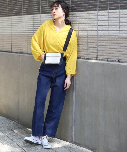 Bou Jeloud(ブージュルード)/◆ビッグシルエットが可愛い◆抜け衿ゆるカラービッグシャツ/691995_img10