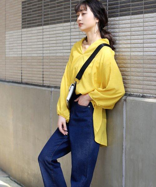 Bou Jeloud(ブージュルード)/◆ビッグシルエットが可愛い◆抜け衿ゆるカラービッグシャツ/691995_img11