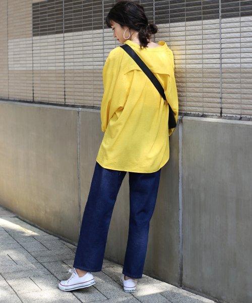 Bou Jeloud(ブージュルード)/◆ビッグシルエットが可愛い◆抜け衿ゆるカラービッグシャツ/691995_img12