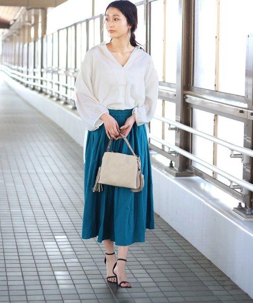 Bou Jeloud(ブージュルード)/◆ビッグシルエットが可愛い◆抜け衿ゆるカラービッグシャツ/691995_img13
