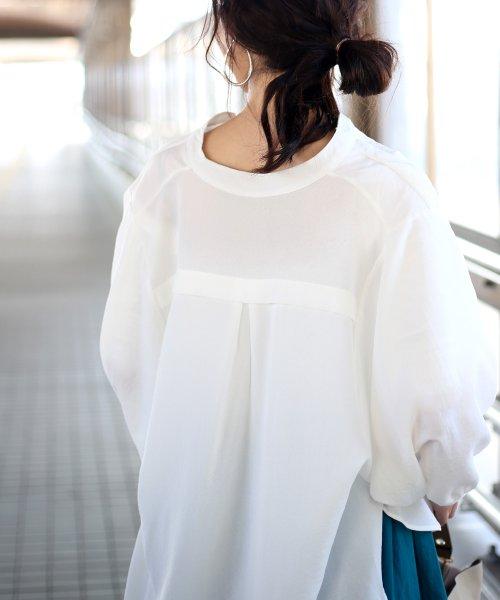 Bou Jeloud(ブージュルード)/◆ビッグシルエットが可愛い◆抜け衿ゆるカラービッグシャツ/691995_img20