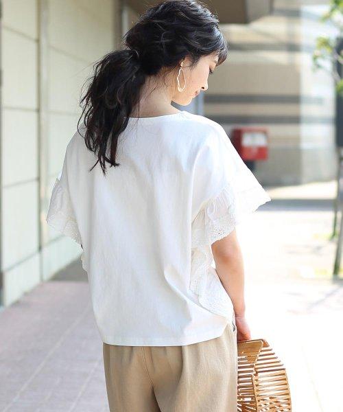 Bou Jeloud(ブージュルード)/【WEB限定】Made in India◆インディアンコットン袖レースTシャツ/791997_img02