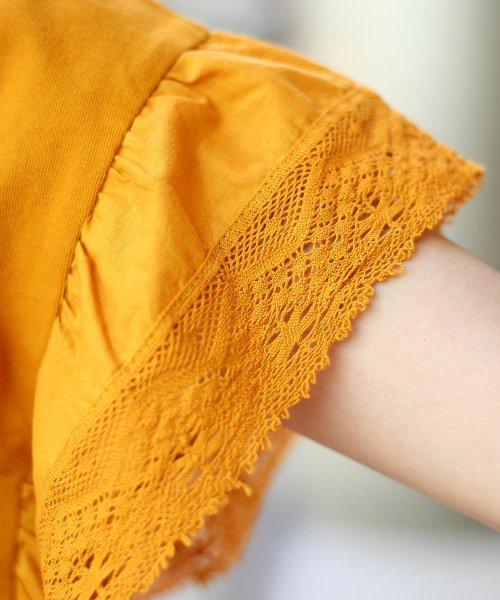 Bou Jeloud(ブージュルード)/【WEB限定】Made in India◆インディアンコットン袖レースTシャツ/791997_img14