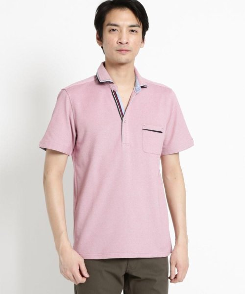 THE SHOP TK(ザ ショップ ティーケー)/【親子おそろい】パイピングポロシャツ/20190161636701_img01